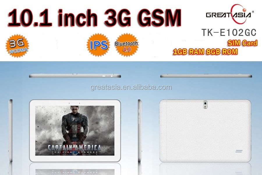 10 inch 3G Tablet PC Dual Core Android 4.2.2 OS MTK6572 HD tablet pc
