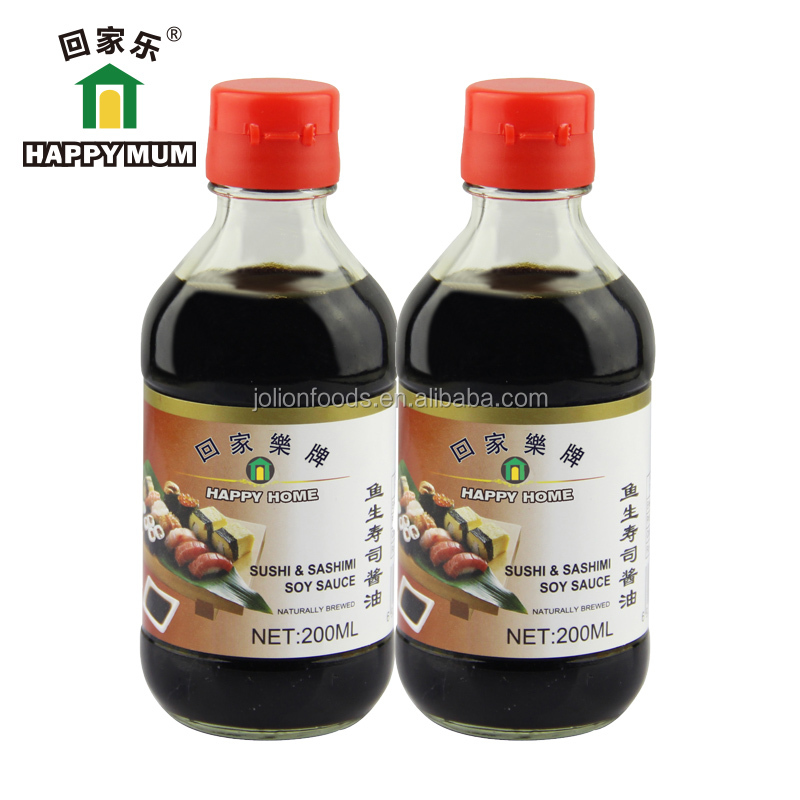 Halal Sashimi & Sushi Soy Sauces 200ml for Oriental cooking
