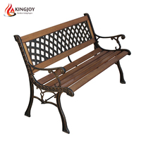 Wood garden lattice Bench with weave Back for backyard