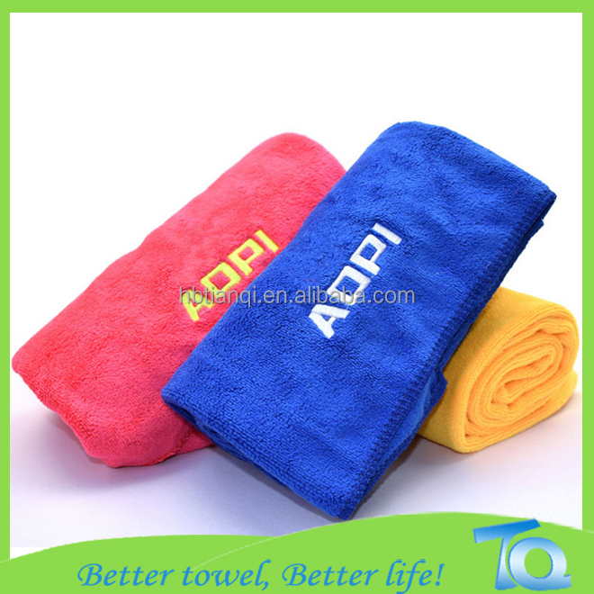Custom Embroidered Gym Towel Microfiber Material