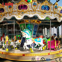 Attractive entertainment merry-go-round rides manufacturer/theme park merry go round for selling