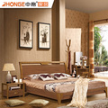 Zhongge Home Bedroom Sets Simple Wooden Double Bed Design Furniture