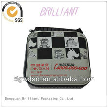 2013 China Grey&Black Cloth Cover&Square EVA CD Case