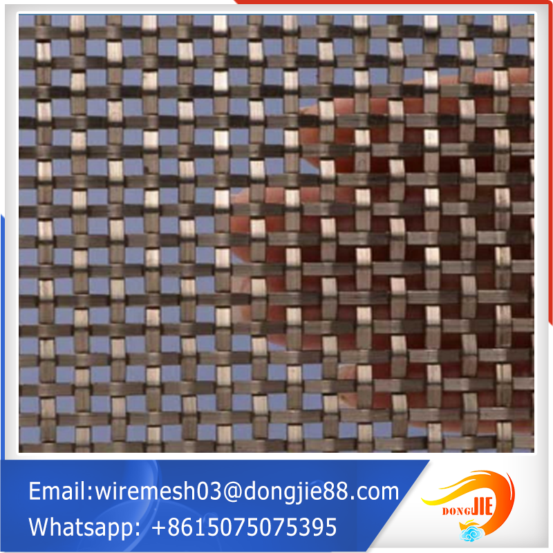 curtain wall wire mesh brass decorative mesh factory