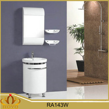 Modern cheap free standing mirrored PVC bathroom cabinet RA143