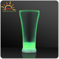Eco-friendly plastic flashing glasses juice party led cups made in China for all party Flashing Ice Glass For Party Decoration