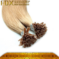 Human Hair 100% High Quality Flat Tip Peruvian Hair Extensions UK