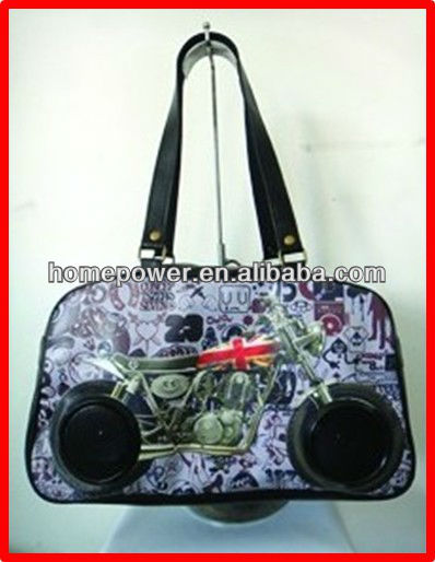 2013 High quality low price solar bag with speaker supplier from china