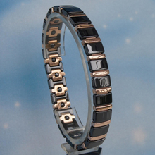 Brighton jewelry wholesale bracelet black ceramic stainless steel gold plated magnetic bracelets