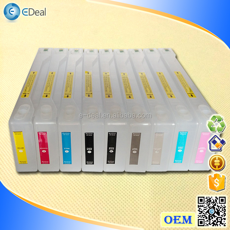 For Epson 7700 printer in 5colors refill print ink cartridge with chip resetter