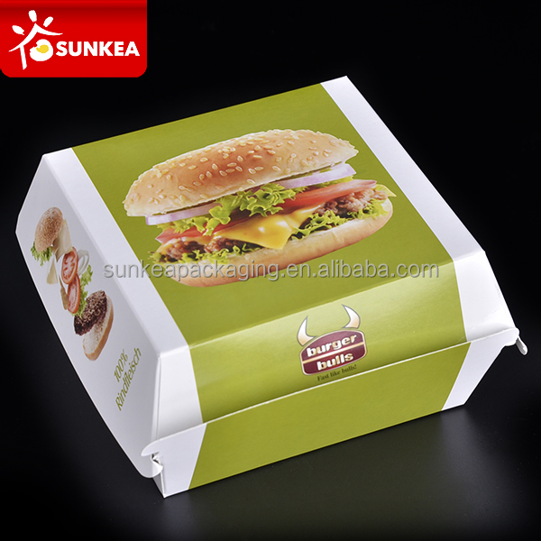 Paper hamburger box, hamburger burger container