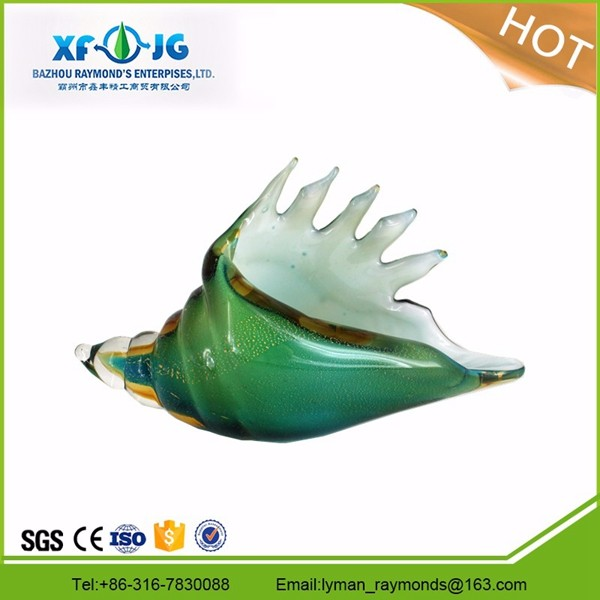 Murano glass conch shell for home decoration