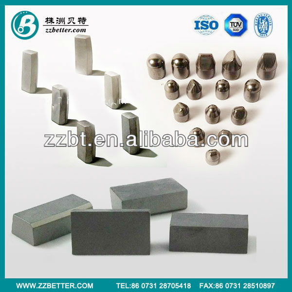 carbide mining cutting tools in various types and dimension