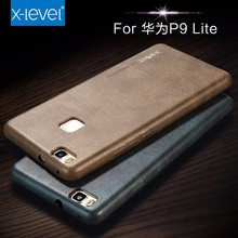[X-Level] Top Sale 2017 Original Design Vintage Full Leather Covered Back Case Cover for Huawei P9 Lite Cellphone Case