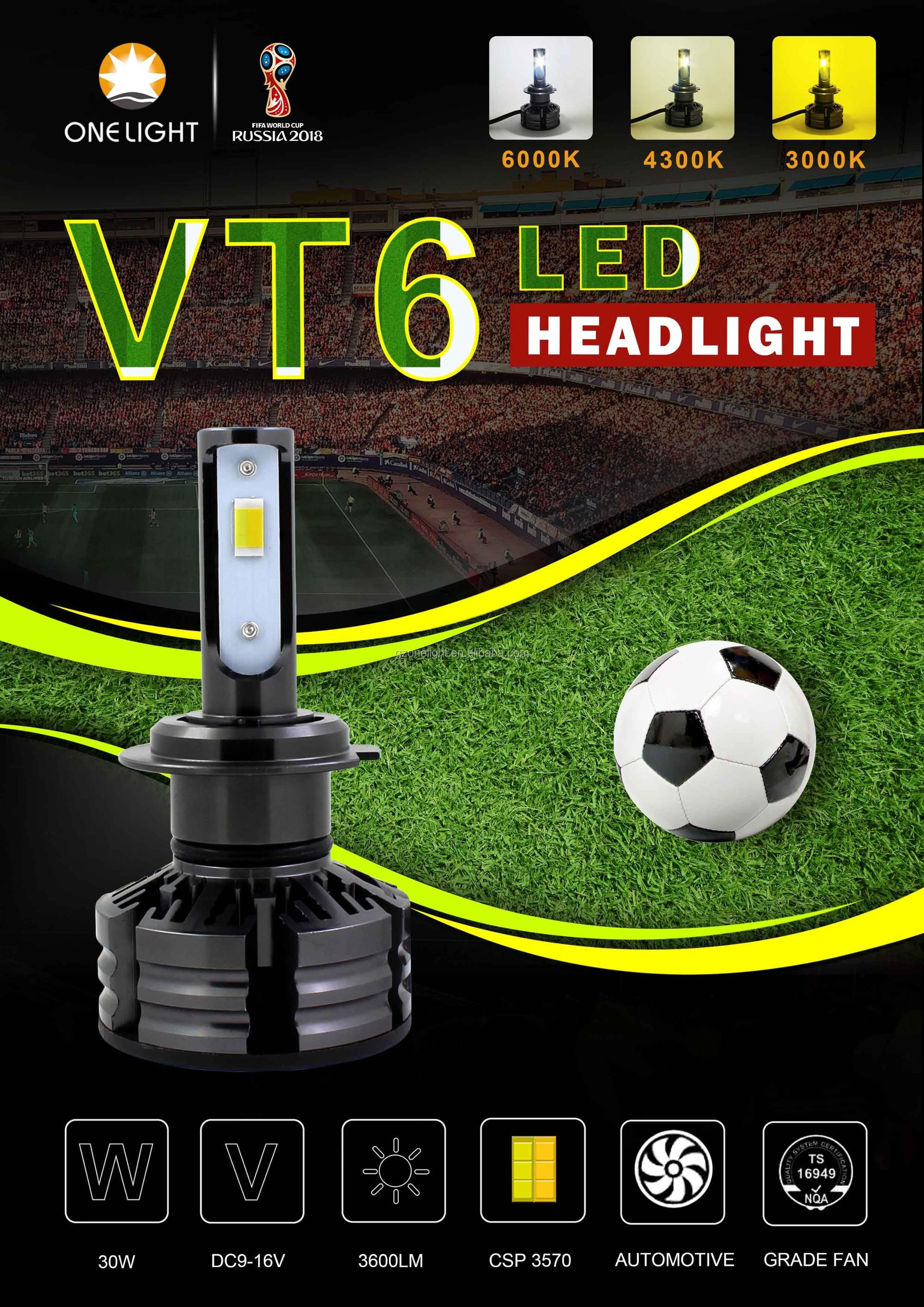 high lumen c6 h4 led headlight led H13 All In One Car