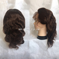 ponytail lace front wig, raw indian temple hair wig, huamn hair lace front wig, cheap lace front wig with baby hair