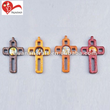 Cute designs wholesale olive wood hand standing Jesus cross patterns designs