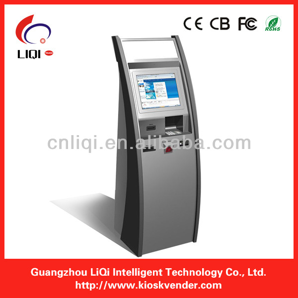 "17"" single touch screen bill acceptor payment kiosk electronic terminal"