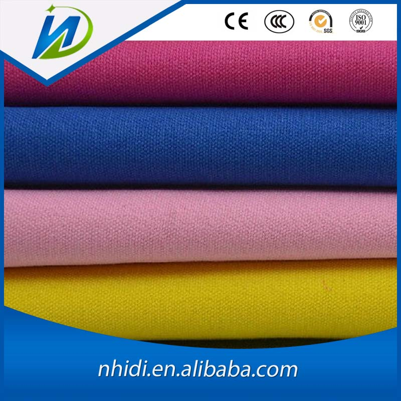 2016 hot sale waterproof plain woven cotton canvas fabric for tent