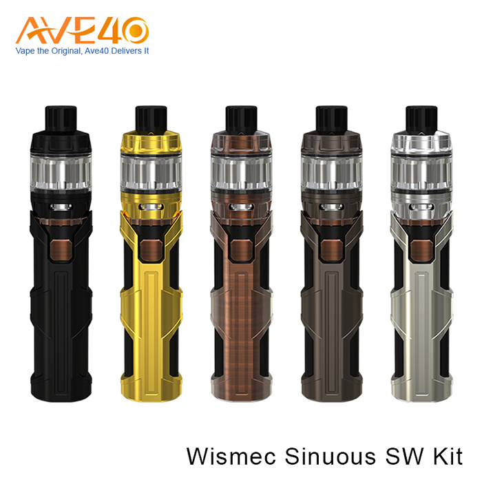 New Born E Cigarette Kit Products Express 50W Output Wattage WISMEC SINUOUS SW With Elabo SW Starter Kit