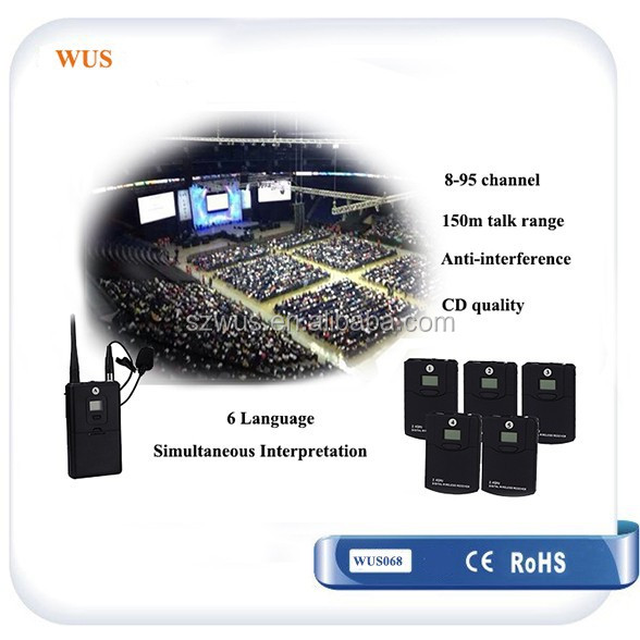 2.4G Anti-interference Wireless Tour Guide System for conference simultaneous interpretation