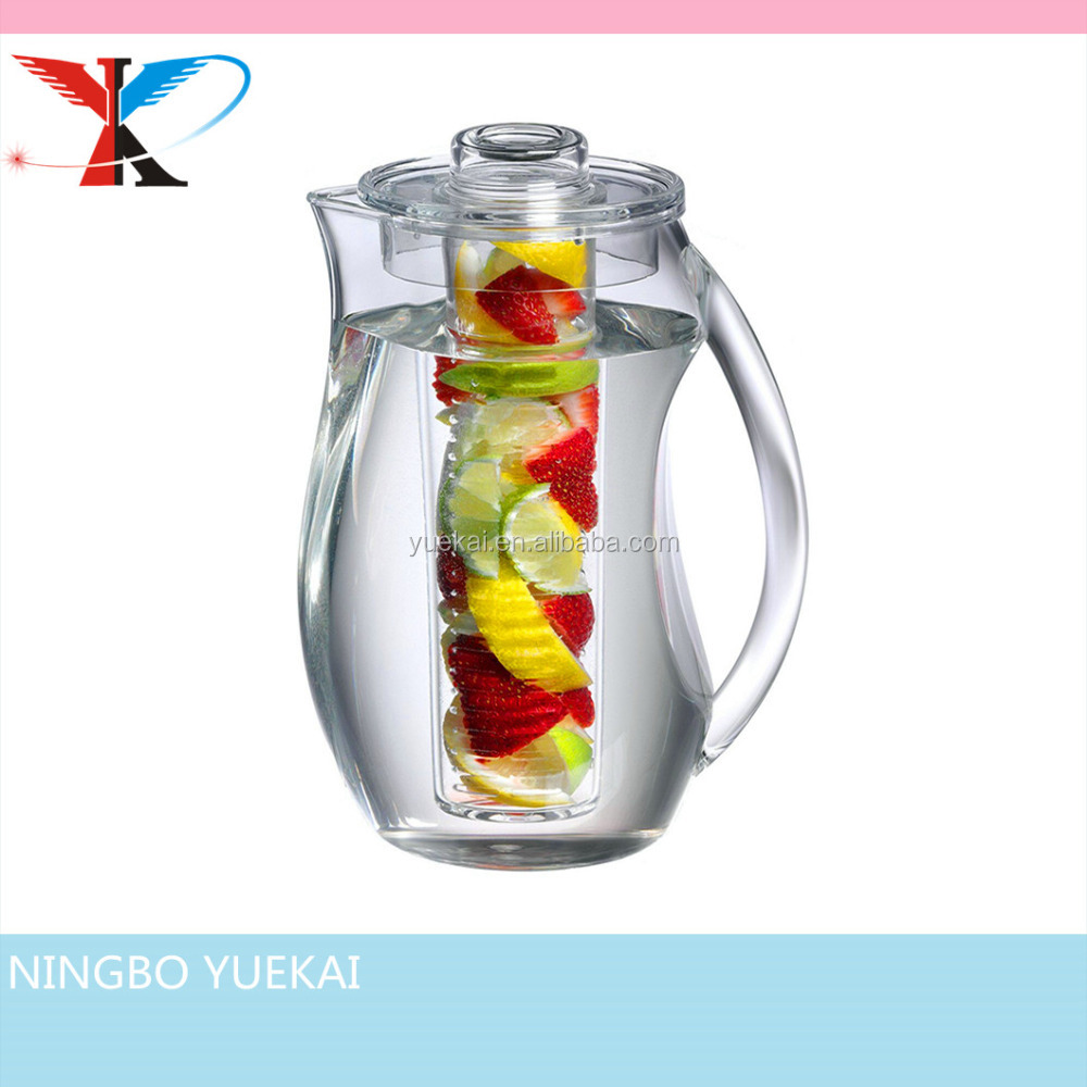 2.5L Fruit Infusion Pitcher With Ice Core Rod -Water Pitcher Infuser