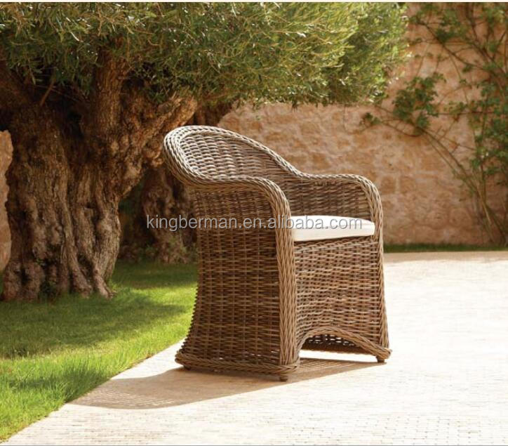 Latest Design High End Wicker Dining Room Chairs Round Rattan Chairs Used Garden Furniture