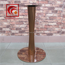 Black stainless steel dining table legs, stainless steel clad iron chassis, golden stainless steel hardware furniture