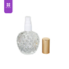 75ml pineapple shape glass design plastic sprayer perfume bottle empty