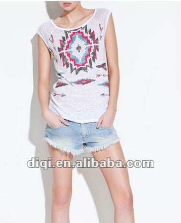 ladies fashion funny casual tank tops