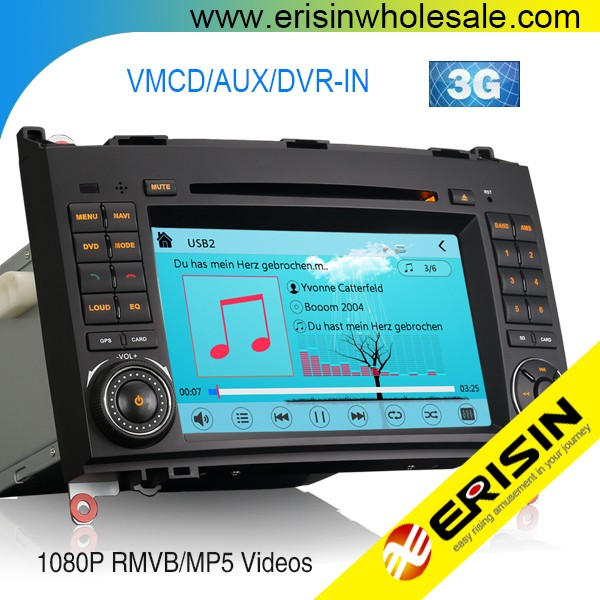 Erisin ES7682M 2 Din 7 inch Car DVD Player GPS for Mercedes Vito Crafter