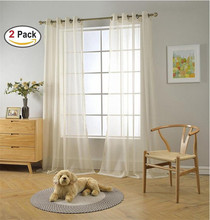 50gsm Wholesale China fancy Modern plain solid sheer voile window curtain