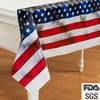 American flag printed party tablecloth double side plastic table cover
