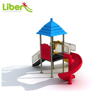 Small Size Children Playground Slides for Home, Plastic Type Backyard Garden Playground Slides for Home
