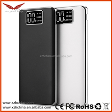 new products electronics portable power bank10000 mah with LED display ,dual usb ports