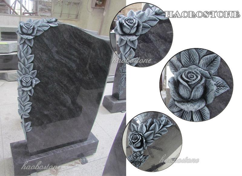 Haobo stone rose schnitzen chinesische granit grabstein
