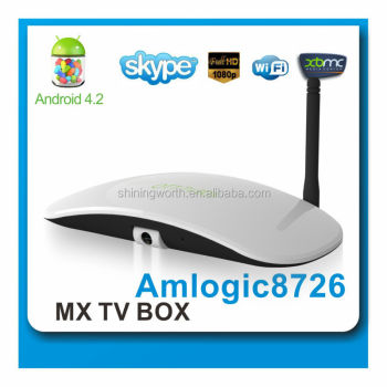 2014 best upgrade xbmc netflix android 4.2.2 dual core ott skype tv box