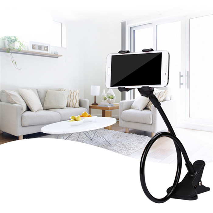 360 Degree Gooseneck Flexible Arm Lazy Mobile Phone Metal Tube Holder Stand 70cm Long for OPPO r9 F1 Plus A37