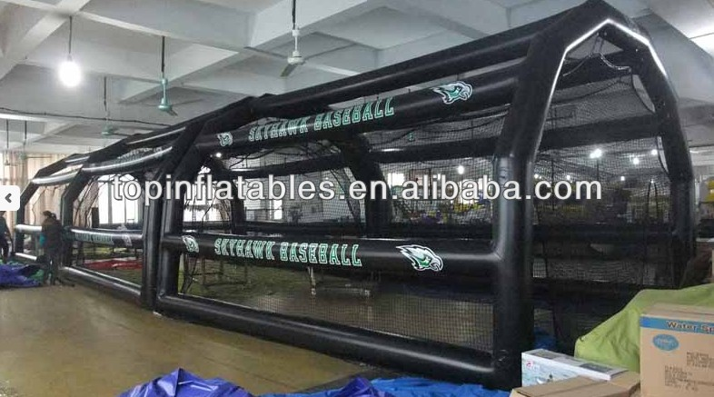 Guangzhou air-sealed inflatable baseball batting cage,inflatable baseball sport court