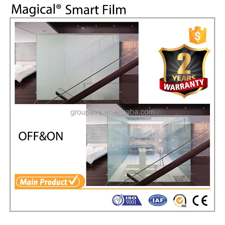 Long Life Time Impressive Hotel PDLC Smart Privacy Glass