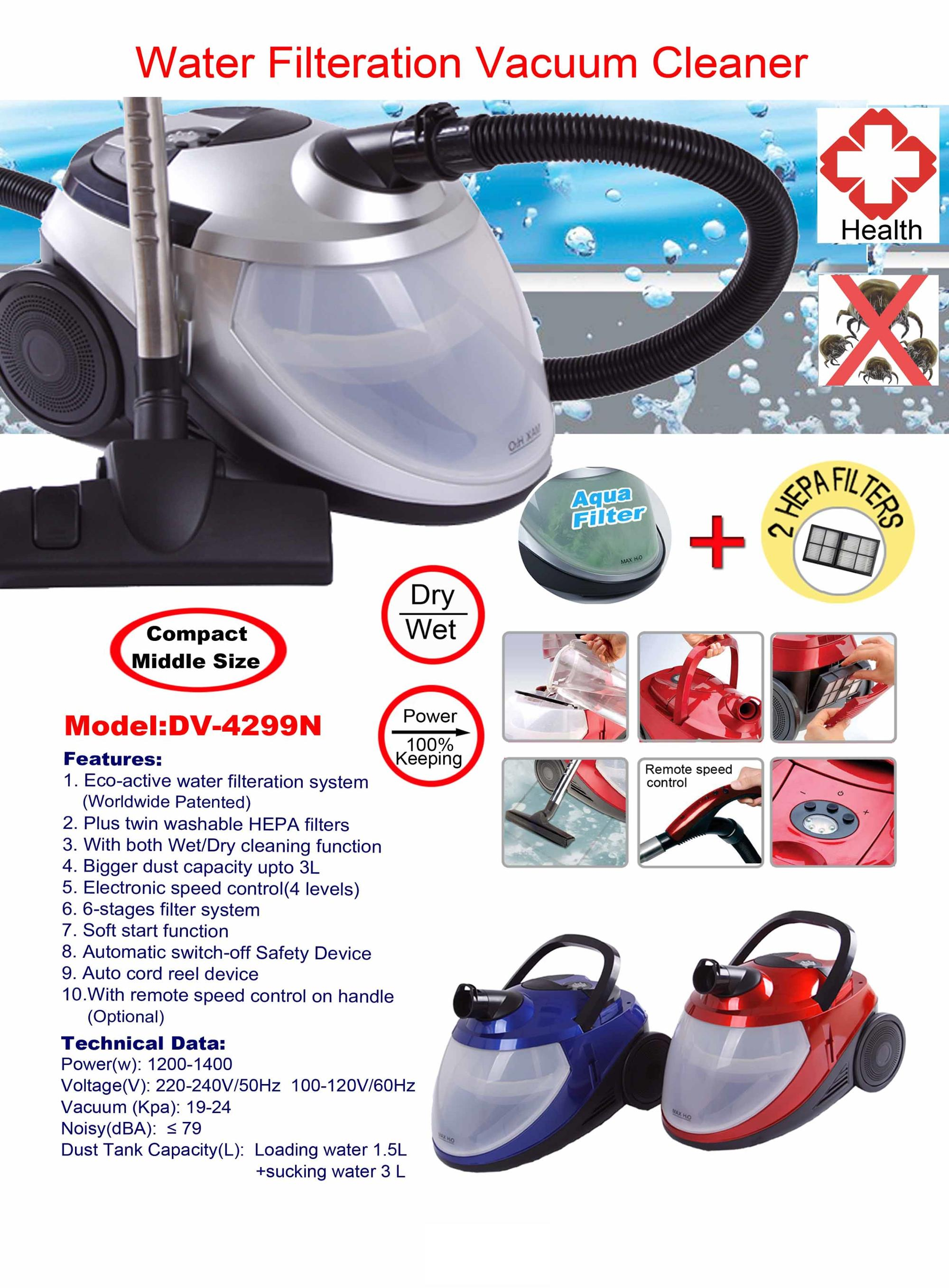 Rainbow Water Filtration Vacuum Cleaner with Water Filter Vacuum Cleaner