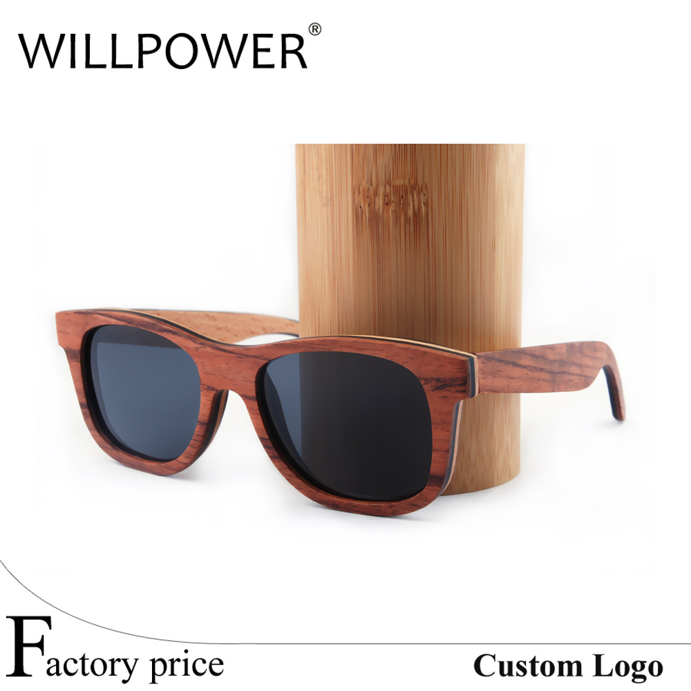 Vintage Fashion Women Style Wood Frame Sunglasses Eyewear