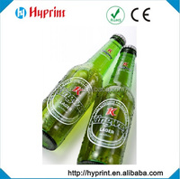 Custom clear sticker for drink bottle hot selling adhesive label for cosmetic box