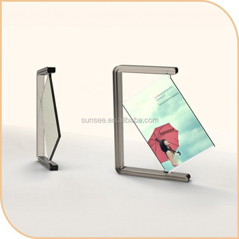 Colorful Acrylic picture frame with rotating design /new desktop picture frame for 2015