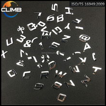 High Quality ABS Plastic Chrome Letter Custom Made Chrome Car Badges Auto Emblems and Letters