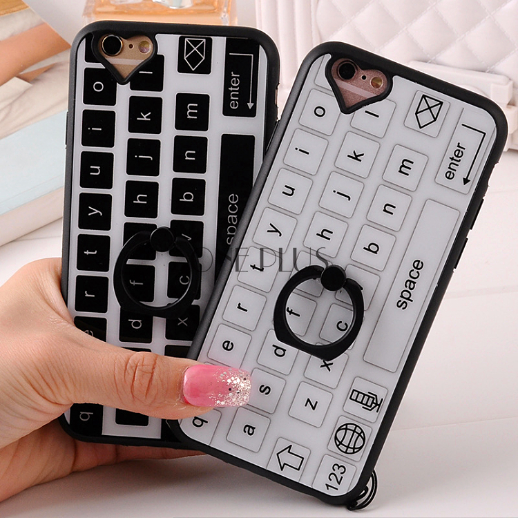 Creative Keyboard Acylic +Silicon Phone Case For Iphone6 6plus