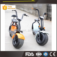 High quality Harley electric motorcycle 2 big wheel scooter 1000W 18*9.5inch