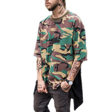 Summer Mens Short Sleeve Crew Neck Swallow Tail Camo T Shirt Custom Cotton Camouflage T Shirt For Men