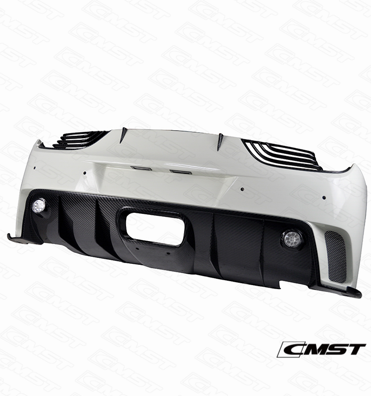 HALF CARBON FIBER REAR BUMPER FOR FERRARI 458 ITALIA BODY KIT (CMS21-013)