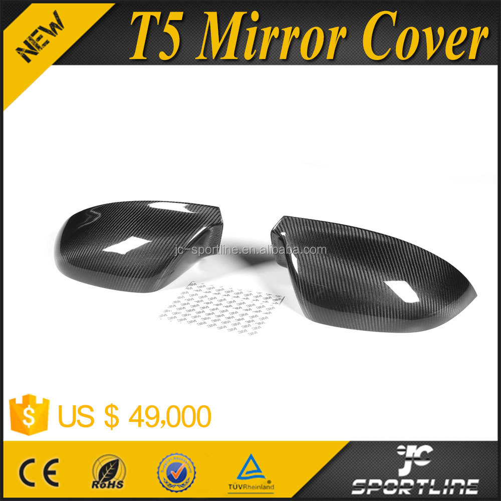 Carbon Fiber Car Side Mirror Covers for Volkswagen VW T5 TRANSPORTER